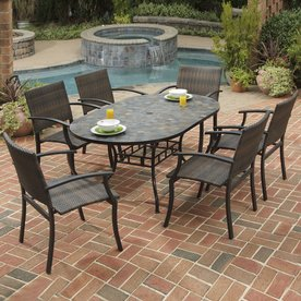 Display Product Reviews For Stone Harbor 7 Piece Metal Frame Wicker Patio Dining  Set