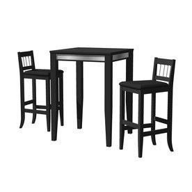 Home Styles Manhattan Pub Table & Stools, Black