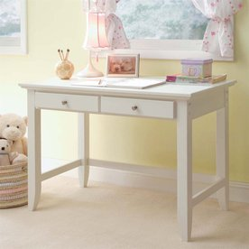 Home Styles Naples Student Desk in White Finish
