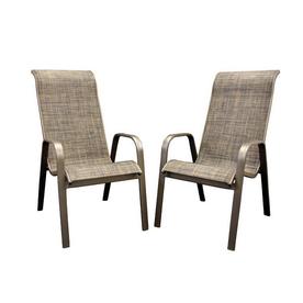 Shop Outdoor Greatroom Company Set Of 2 Aluminum Sling Seat Patio