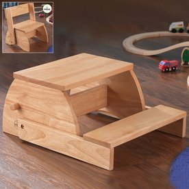 KidKraft 2-Step Natural Wood Step Stool 15821