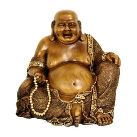 Oriental Furniture 10 Sitting Hotei Happy Buddha Statue
