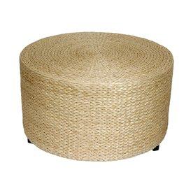 Shop Oriental Furniture Fiber Weave Natural Round Ottoman