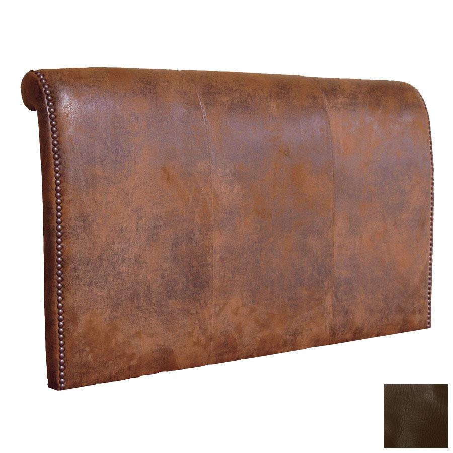 shop fireside lodge furniture sierra brown california king leather upholstered headboard at. Black Bedroom Furniture Sets. Home Design Ideas