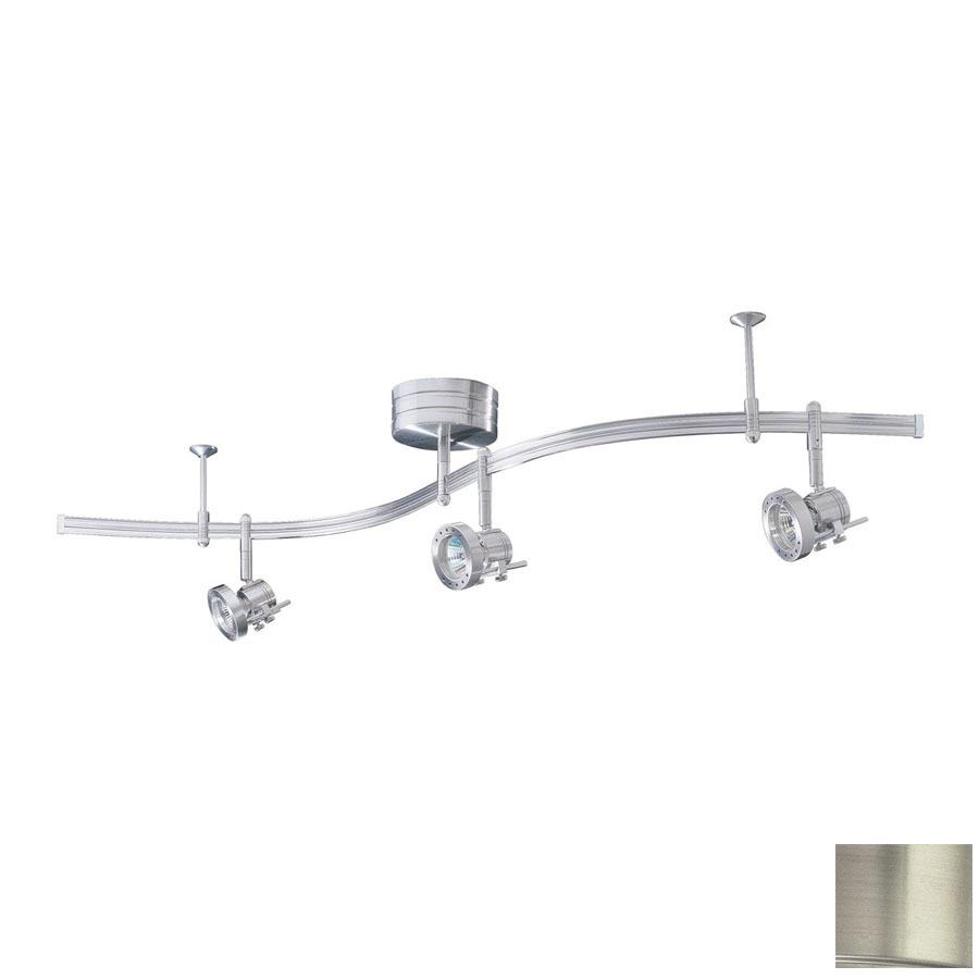 Decorative Track Lighting Fixtures: Shop Kendal Lighting 3-Light Satin Nickel Decorative