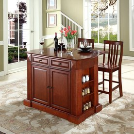 kitchen island furniture. Display product reviews for Brown Craftsman Kitchen Island with 2 Stools Shop Islands  Carts at Lowes com