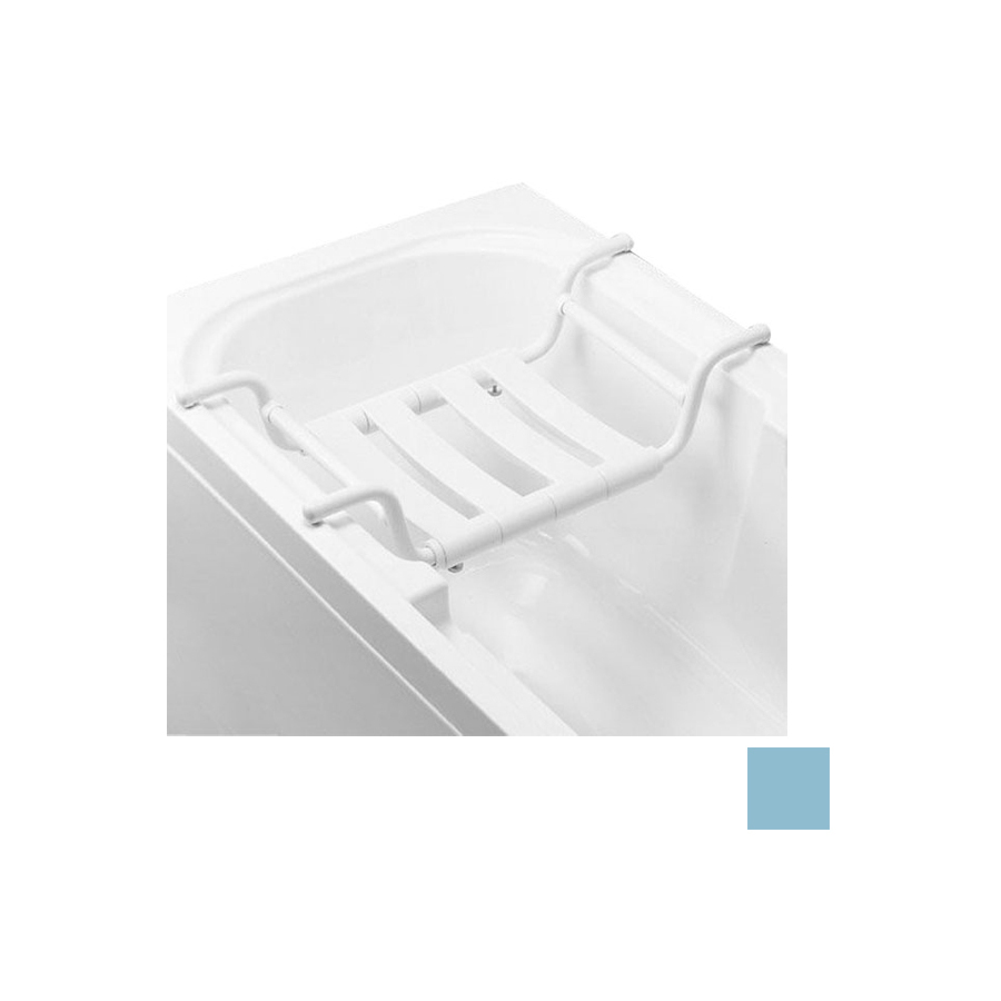 Ponte Giulio USA Glossy Light Blue Plastic Freestanding Shower Seat