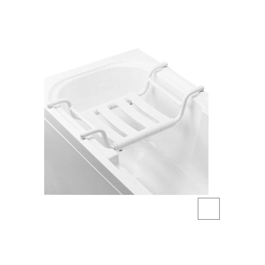 Ponte Giulio USA Glossy White Plastic Freestanding Shower Seat