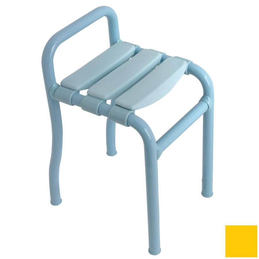 Ponte Giulio USA Glossy Yellow Plastic Freestanding Shower Seat