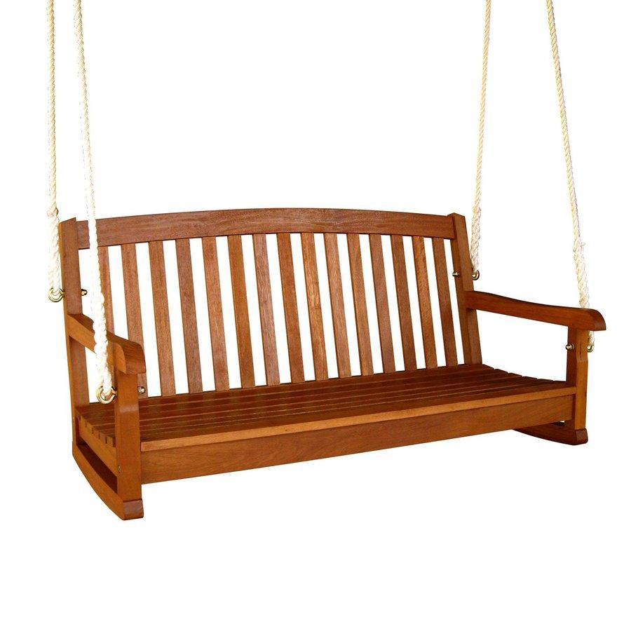 Shop International Caravan 2 Seat Wood Swing At Lowes Com