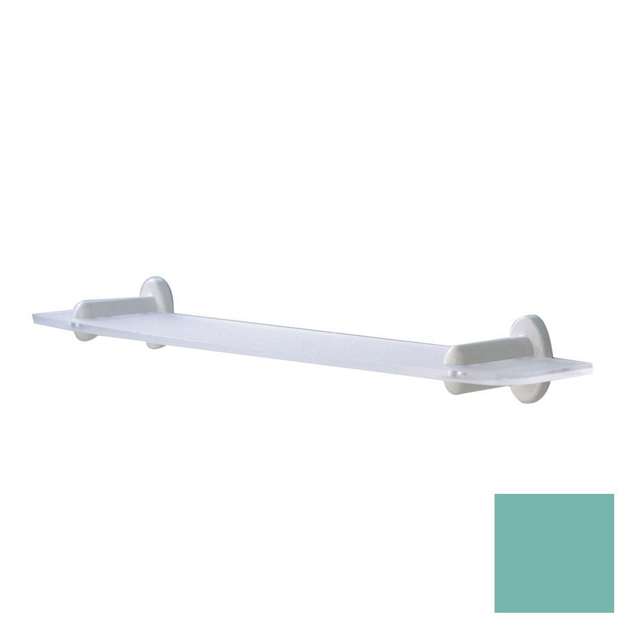 Ponte Giulio USA Accessories Double Sandblasted/Glossy Light Green Plastic Bathroom Shelf