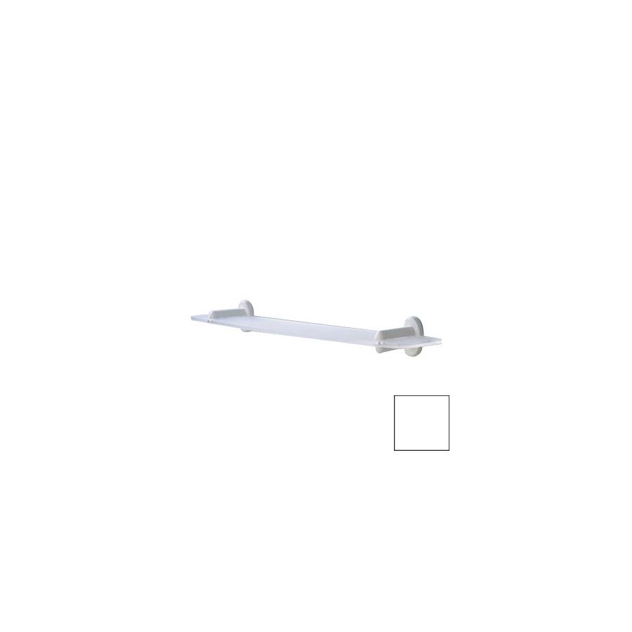 Ponte Giulio USA Accessories Double Sandblasted/Glossy White Plastic Bathroom Shelf