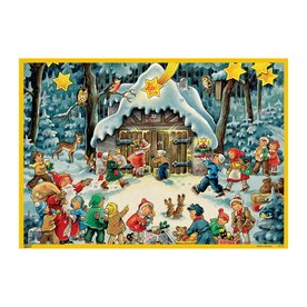 Alexander Taron Advent Calendar Winter Scene Indoor Christmas Decoration 10101