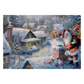 Alexander Taron Advent Calendar Santa on Roof Indoor Christmas Decoration 10385