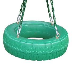 Creative Playthings Single Axis Green Tire Swing Aj937-100