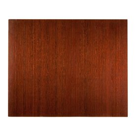 Anji Mountain Deluxe Bamboo Roll-Up Chair Mat - Dark Cherry