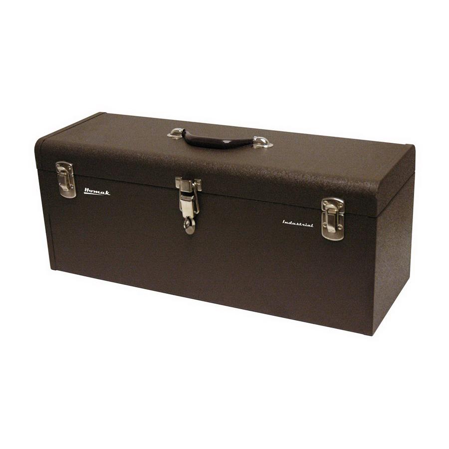 Shop Homak 24.125-in Lockable Brown Steel Tool Box at ...