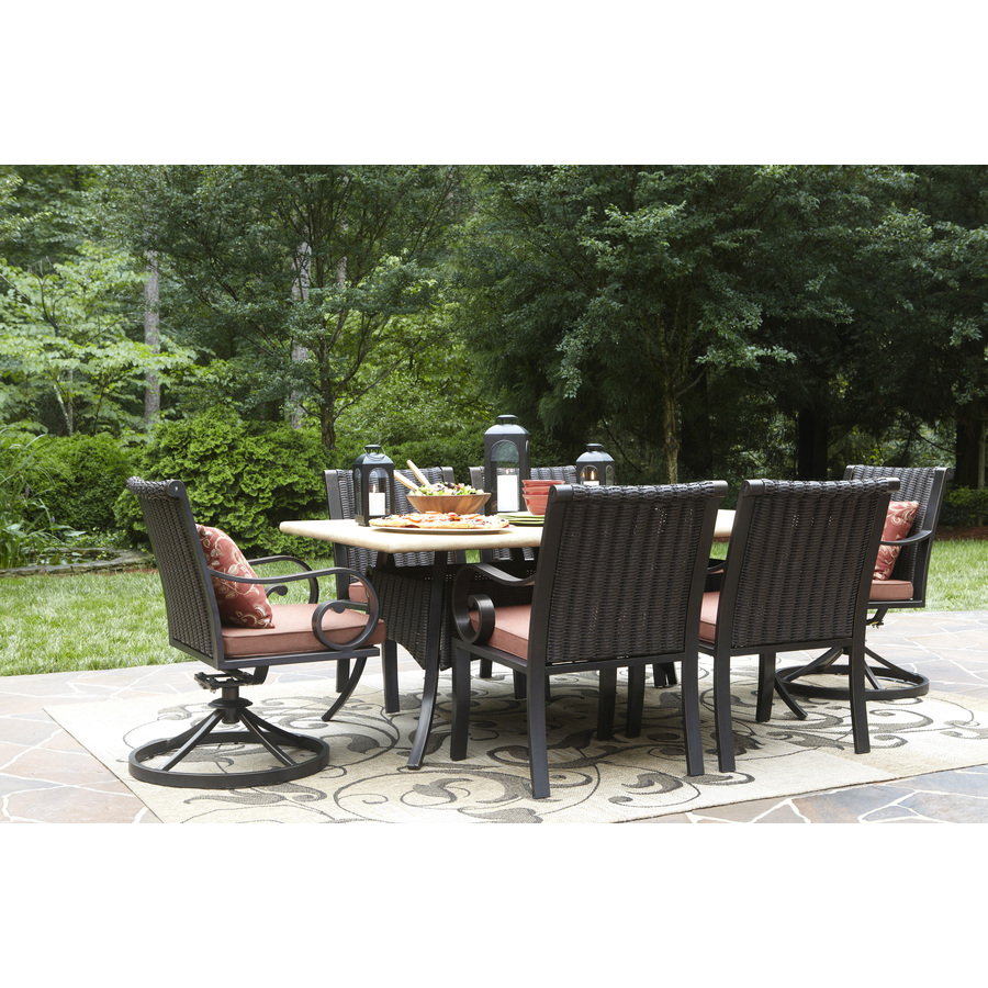 Allen Roth Pardini Oil Rubbed Bronze Rectangle Patio Dining Table In The Patio Tables Department At Lowes Com