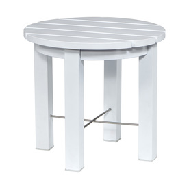 Shop Allen Roth Cape Cottage Round End Table At Lowes Com