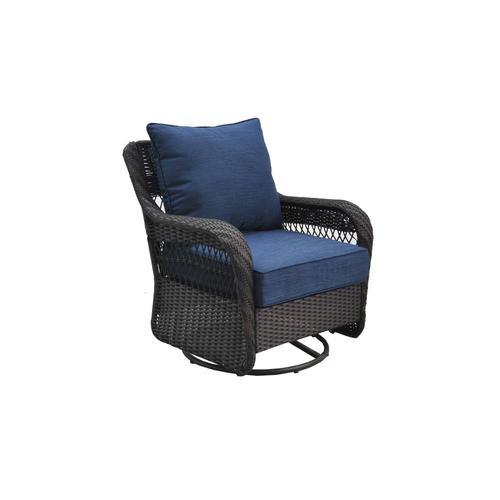 Allen Roth Glenlee Woven Conversation Chair With Cushion