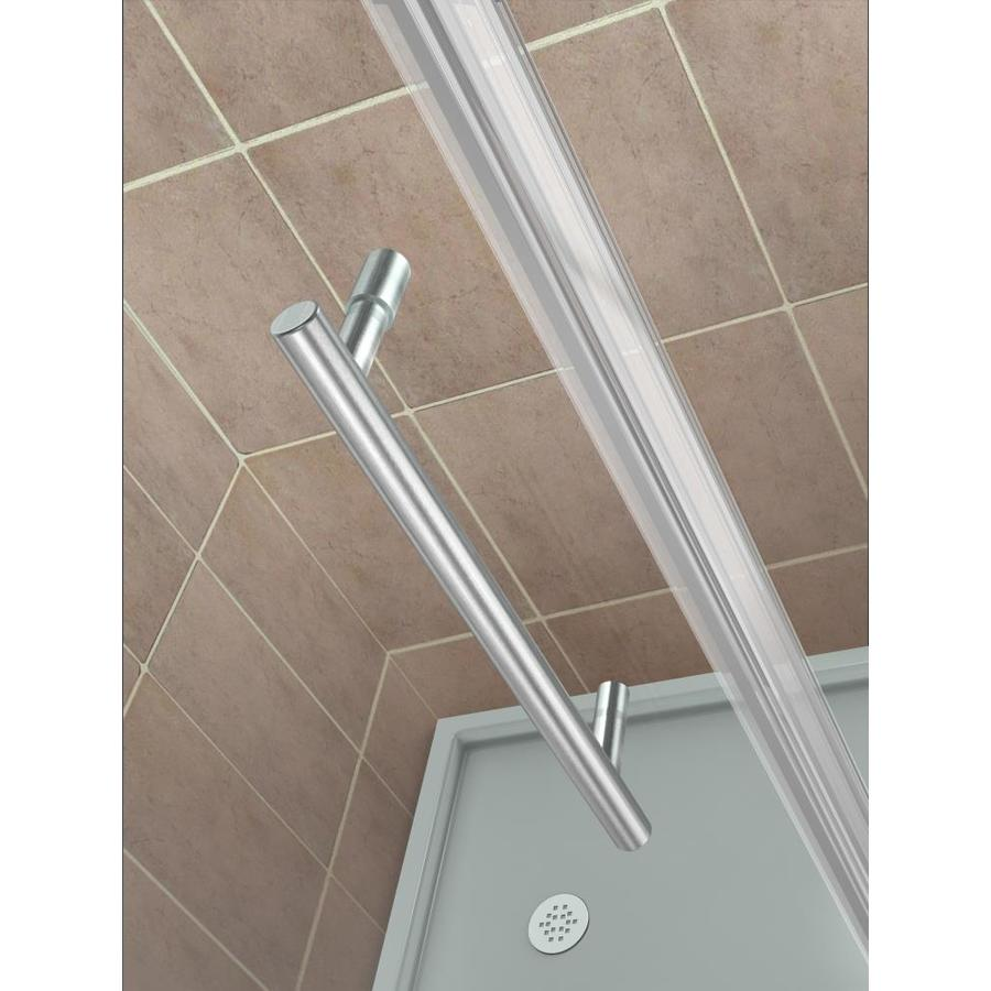 Aston Bromley Gs 72 In H X 65 25 In To 66 25 In W Frameless Hinged Shower Door Clear Glass In The Shower Doors Department At Lowes Com