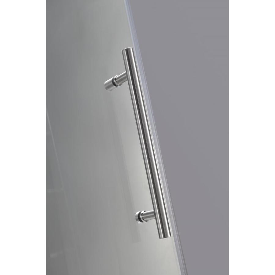 Aston Avalux 72 In H X 33 In W Frameless Hinged Shower Door Clear Glass In The Shower Doors Department At Lowes Com