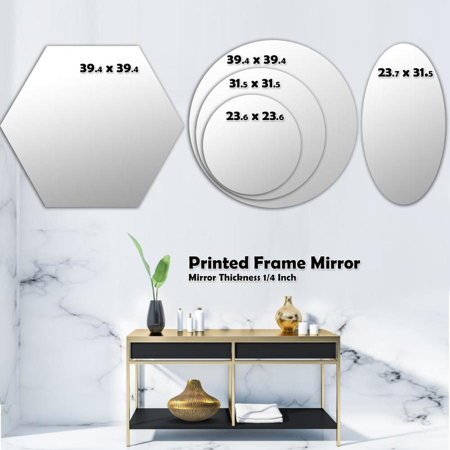 Designart Designart Black And White Check Stipes Pattern Modern Mirror Wall Mirror In The Mirrors Department At Lowes Com
