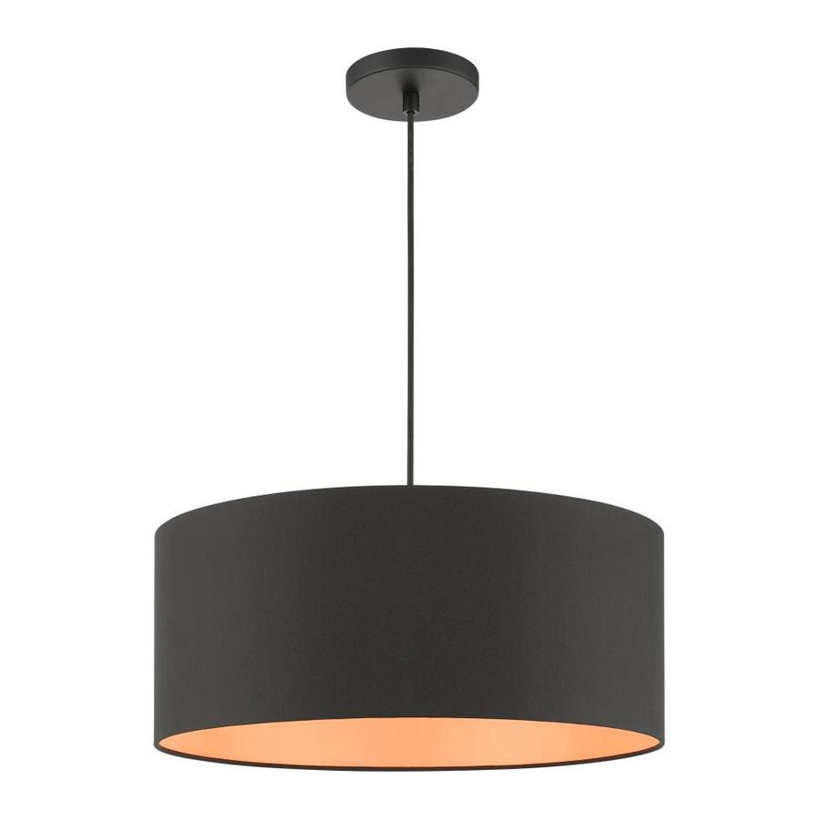 Livex Lighting Sentosa Black Modern Contemporary Drum Pendant Light In The Pendant Lighting Department At Lowes Com