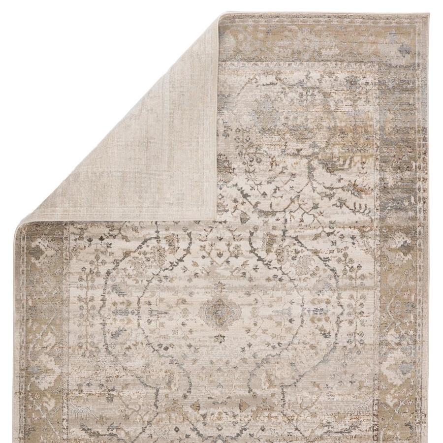 Jaipur Living Sinclaire 7 X 10 Gray Gold Indoor Medallion Vintage Area Rug In The Rugs Department At Lowes Com