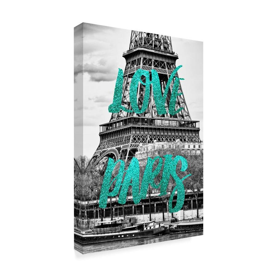Trademark Fine Art Philippe Hugonnard Love Paris The Eiffel Tower 30x47 Canvas Art In The Wall Art Department At Lowes Com