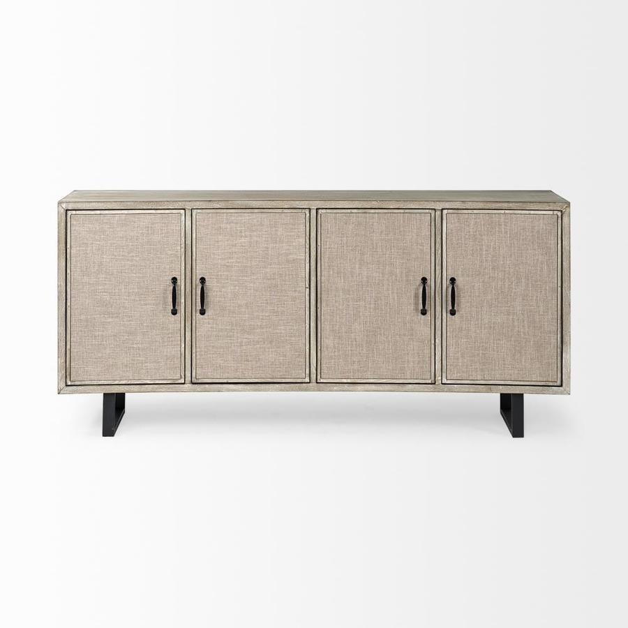Mercana Bellefontaine Fir Sideboard With Wine Storage In The Dining Kitchen Storage Department At Lowes Com