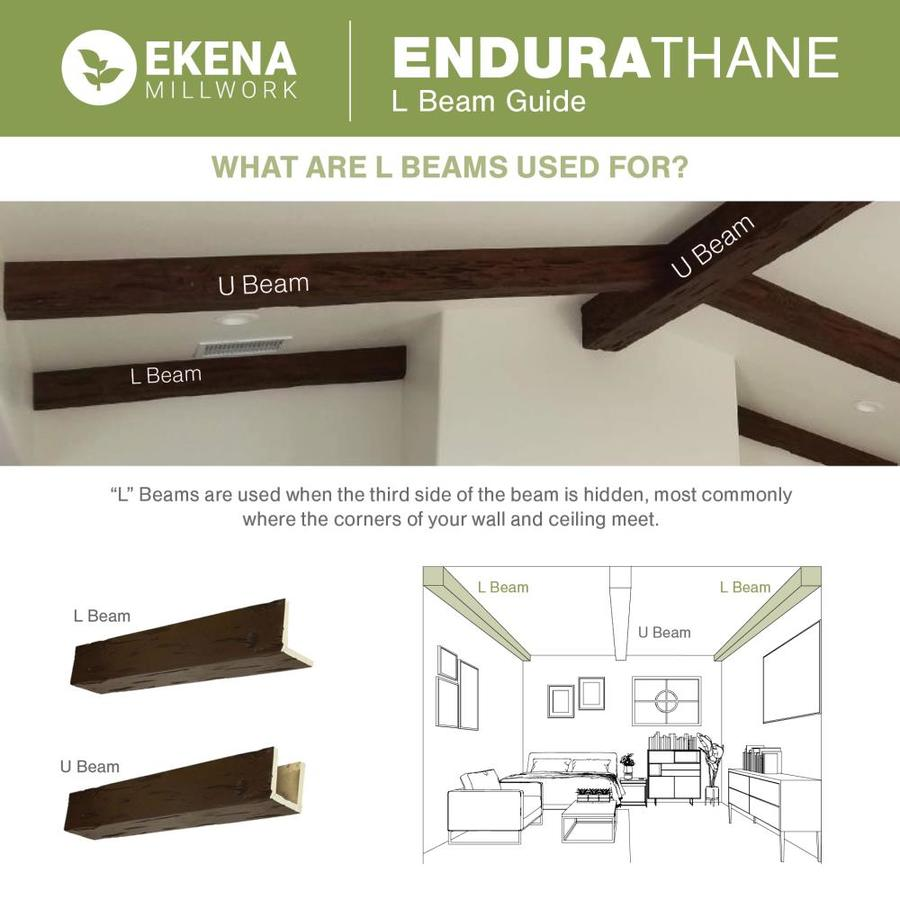 Ekena Millwork Hand Hewn 4 In X 8 In X 120 In Natural Mahogany Prefinished Polyurethane Decorative Beam In The Faux Beams Department At Lowes Com