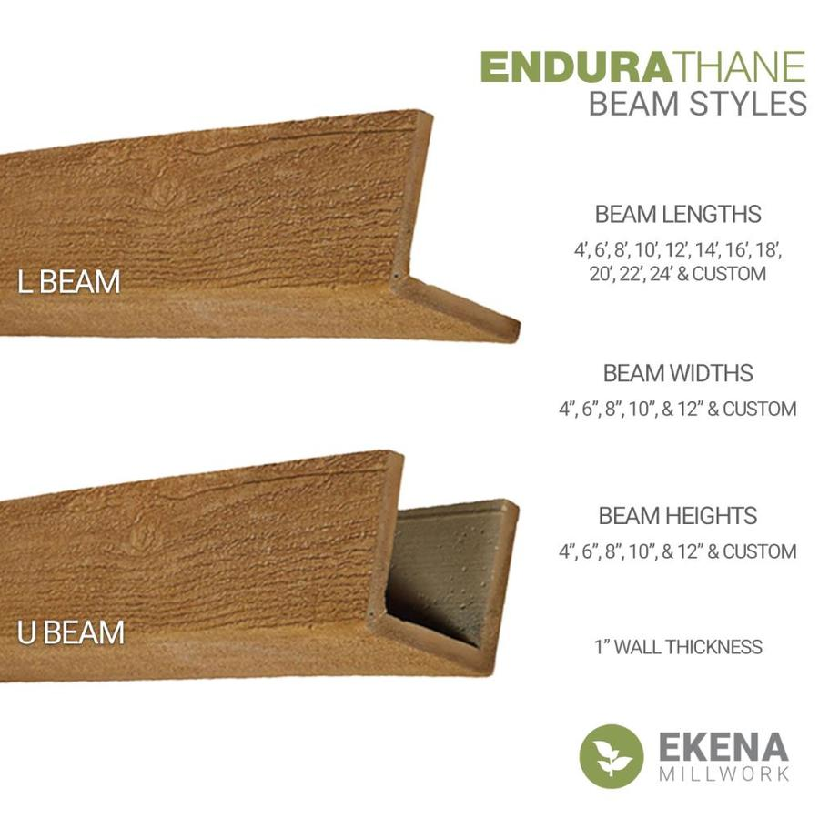 Ekena Millwork Hand Hewn 6 In X 8 In X 288 In Natural Mahogany Prefinished Polyurethane Decorative Beam In The Faux Beams Department At Lowes Com