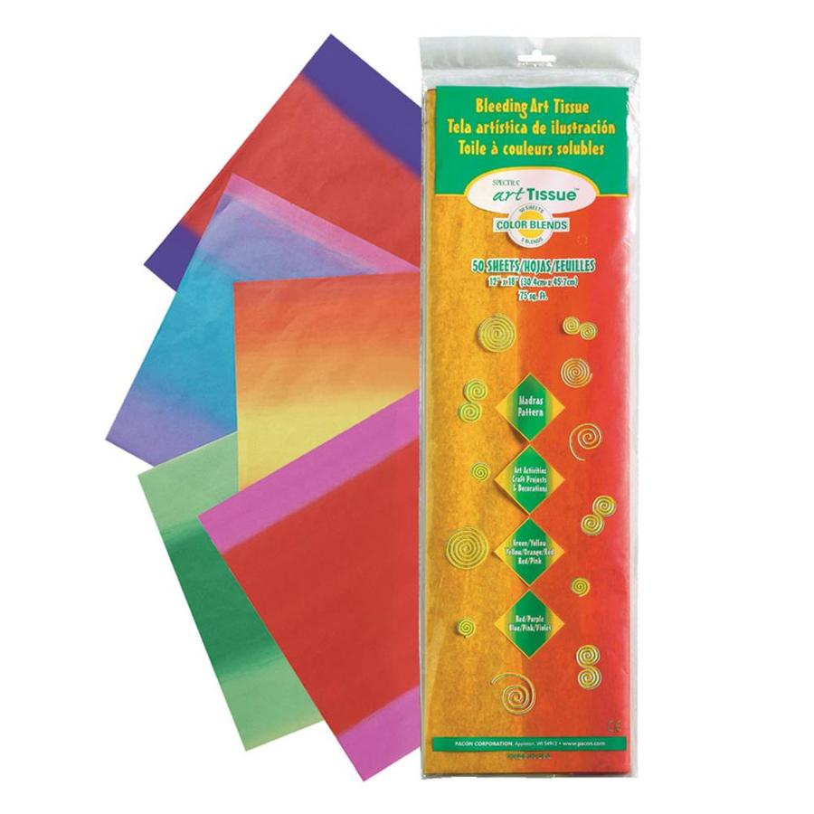 Spectra Deluxe Bleeding Art Tissue 5 Color Blends Madras Pattern Assortment 12 In X 18 In 50 Sheets Per Pack 2 Packs In The Tissue Paper Department At Lowes Com
