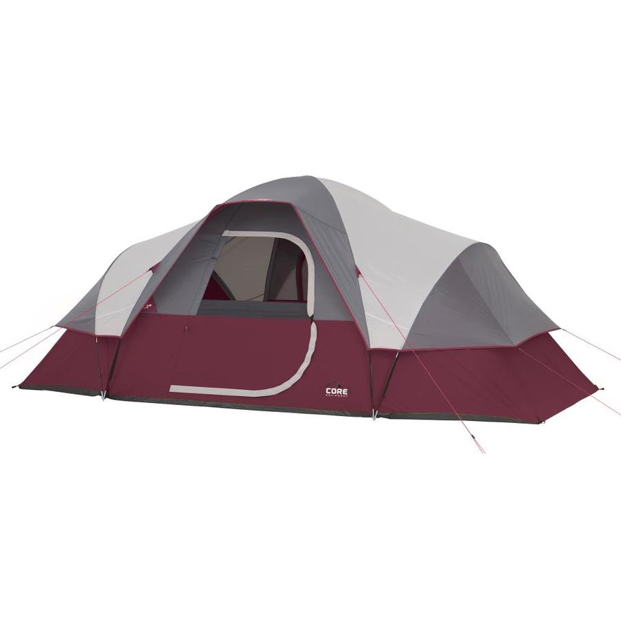Core Extended Dome Tent Foot 9 Person Camping Tent with Air Vents