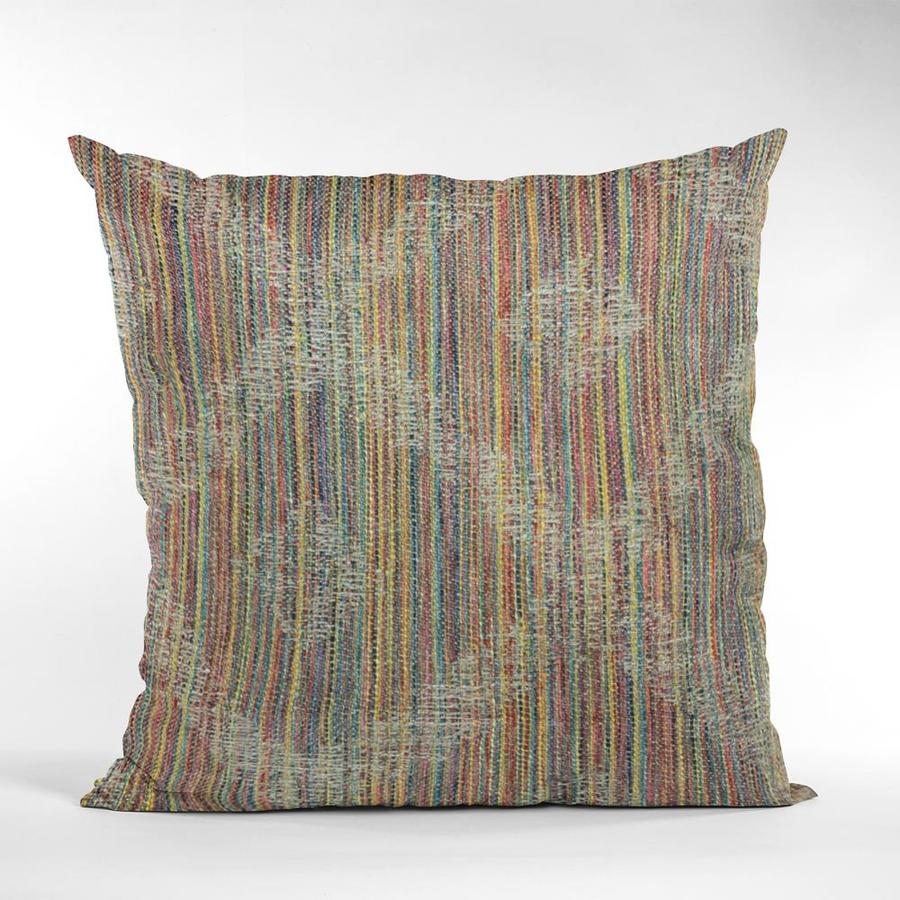 Plutus Brands Multi Color Diamond Abstract Luxury Throw Pillow 24in X 24in In The Throw Pillows Department At Lowes Com