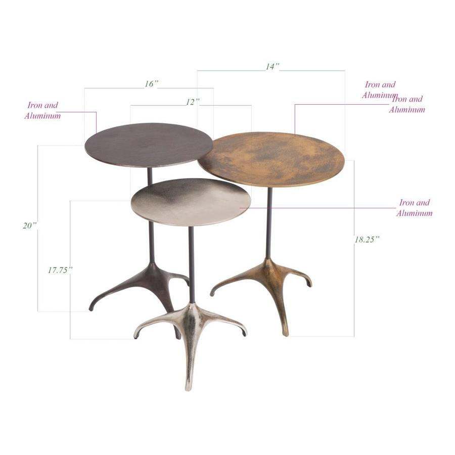 Go Home Set Of Three Leoni Nesting Tables In The Accent Table Sets Department At Lowes Com