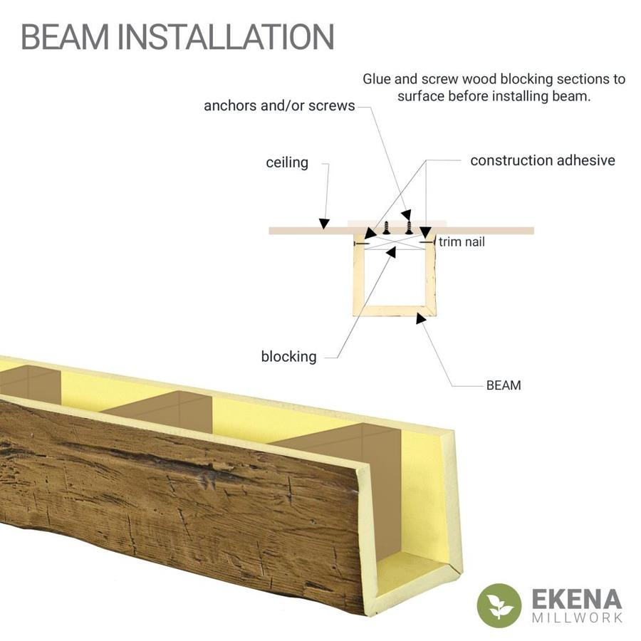 Ekena Millwork 12 In W X 8 In H X 20 Ft L 3 Sided U Beam Rough Cedar Endurathane Faux Wood Ceiling Beam Premium Cherry In The Faux Beams Department At Lowes Com
