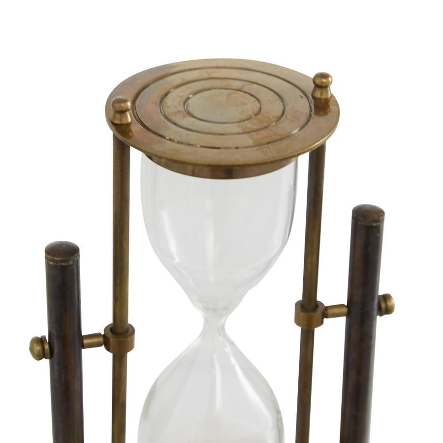 Grayson Lane Small Antique Bronze Rotating Brass Metal Sand Timer 4 In X 8 In In The Decorative Accessories Department At Lowes Com