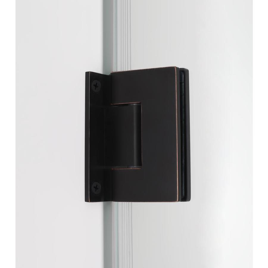 Aston Belmore Gs 59 25 In To 60 25 In X 60 In Frameless Hinged Tub Door With Glass Shelves In Oil Rubbed Bronze In The Bathtub Shower Door Glass Department At Lowes Com