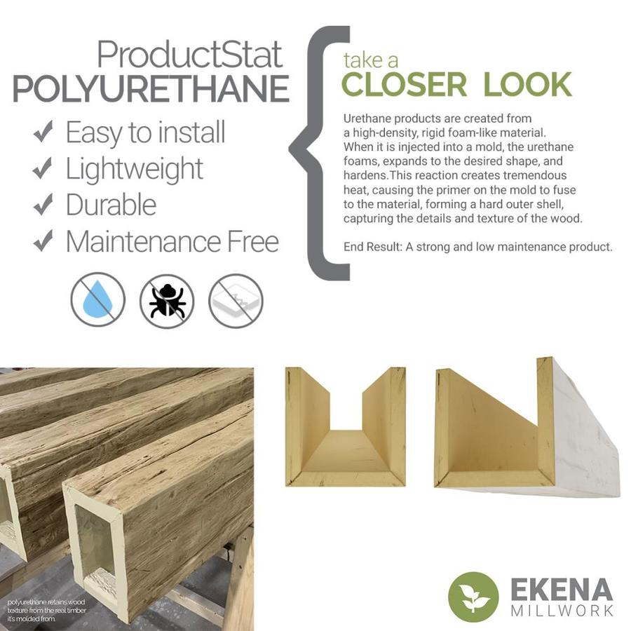 Ekena Millwork Rough Cedar 8 In X 6 In X 96 In Natural Pine Prefinished Polyurethane Decorative Beam In The Faux Beams Department At Lowes Com