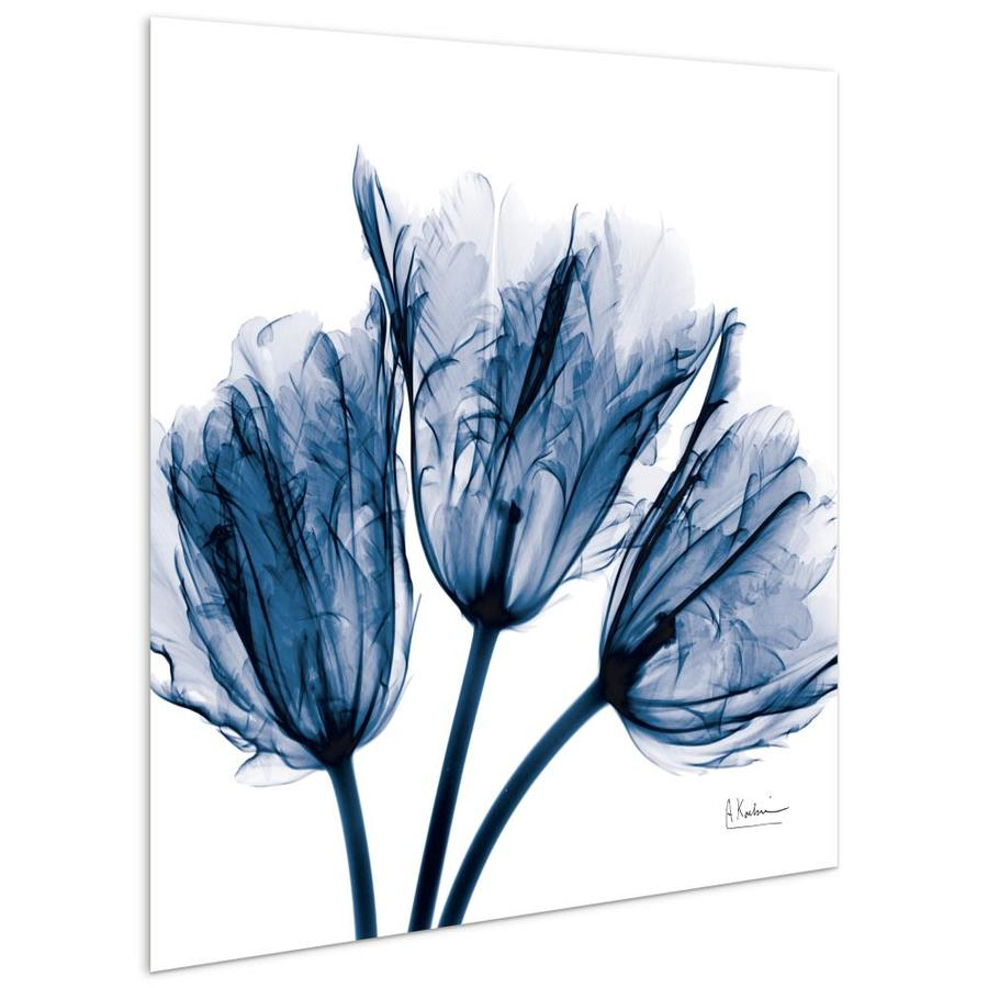 Empire Art Direct Wall Art 24 X 24 Blue Tulip X Ray Flowers Frameless Free Floating Tempered Glass Panel Graphic Wall Art In The Wall Art Department At Lowes Com