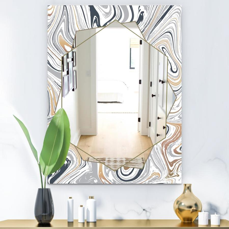 Designart Designart Mirrors 35 4 In L X 35 4 In W Gold Polished Wall Mirror In The Mirrors Department At Lowes Com