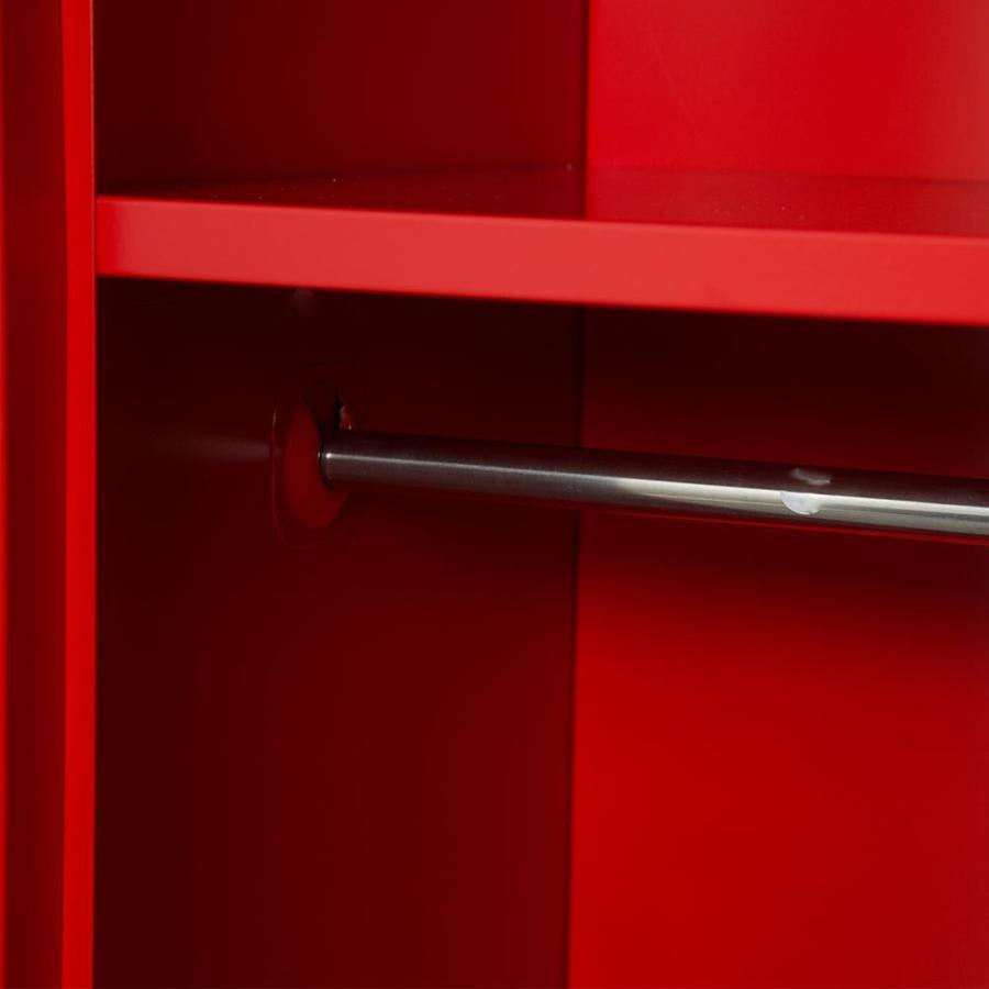 Kids Storage Metal Locker w// lock Hanging Rods,Single Tier Metal Home School