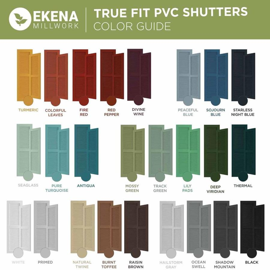 Ekena Millwork 16 1 8 In W X 57 In H True Fit Pvc Three Board Framed Board N Batten Shutters Starless Night Blue Per Pair Hardware Not Included In The Exterior Shutters Department At Lowes Com