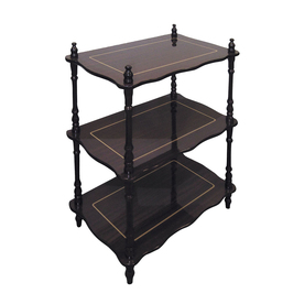 ORE International 26-in H x 19-in W x 12-in D 3-Tier Wood Freestanding Shelving Unit JW-109A