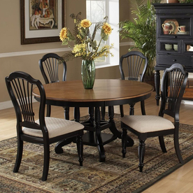 Hillsdale Furniture Wilshire Rubbed Black Dining Set 4509DTBRNDC5