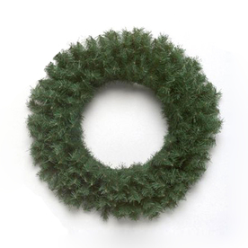 Vickerman 24-in Unlit Canadian Pine Artificial Christmas Wreath A802824