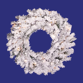 Vickerman 20-in Unlit Pine Artificial Christmas Wreath A806320
