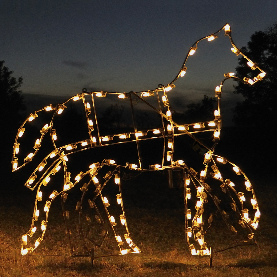 shop holiday lighting specialists animated victorian horse outdoor christmas decoration. Black Bedroom Furniture Sets. Home Design Ideas